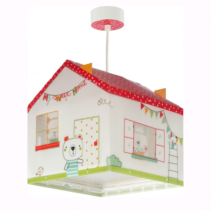 Lustra camera copii cu imagini imprimate, My Sweet Home 11672 DB, PROMOTII,  a