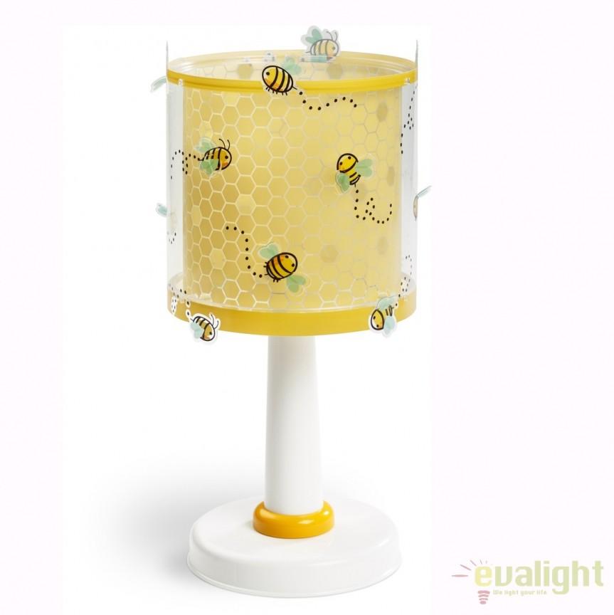 Veioza camera copii cu imagini imprimate Bee Happy 71091 DB, PROMOTII, Corpuri de iluminat, lustre, aplice, veioze, lampadare, plafoniere. Mobilier si decoratiuni, oglinzi, scaune, fotolii. Oferte speciale iluminat interior si exterior. Livram in toata tara.  a