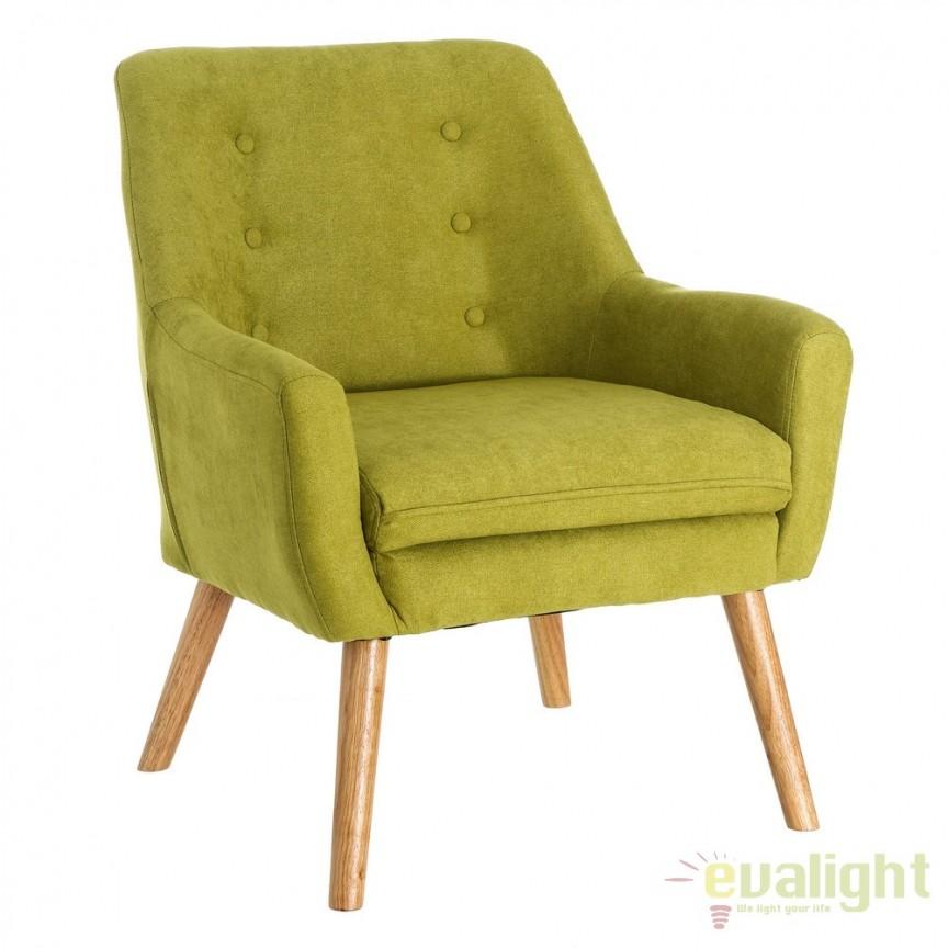 Fotoliu confortabil, elegant MODERNO, verde SX-103044, Fotolii - Fotolii extensibile, Corpuri de iluminat, lustre, aplice, veioze, lampadare, plafoniere. Mobilier si decoratiuni, oglinzi, scaune, fotolii. Oferte speciale iluminat interior si exterior. Livram in toata tara.  a