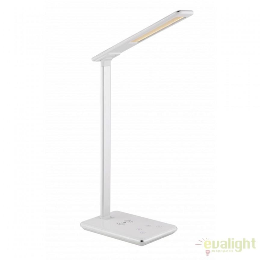Veioza LED cu touch dimmer / Lampa LED de birou Hekla I 58297 GL, Veioze de Birou moderne, Corpuri de iluminat, lustre, aplice, veioze, lampadare, plafoniere. Mobilier si decoratiuni, oglinzi, scaune, fotolii. Oferte speciale iluminat interior si exterior. Livram in toata tara.  a