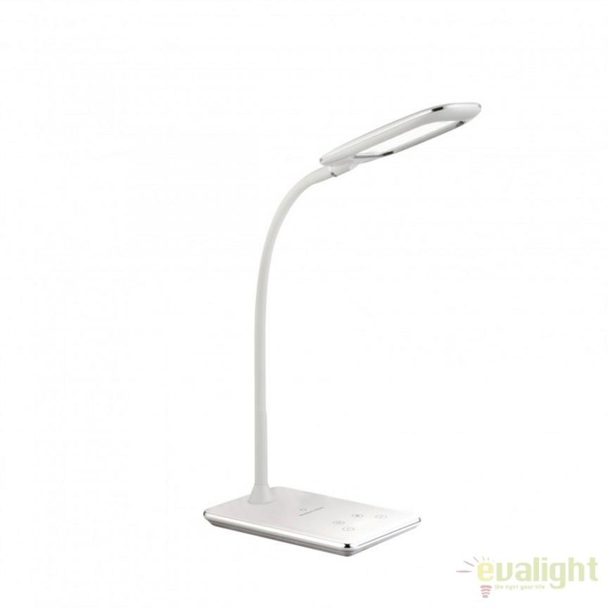 Veioza LED cu touch dimmer / Lampa LED de birou Hekla II 58298 GL, Veioze de Birou moderne, Corpuri de iluminat, lustre, aplice, veioze, lampadare, plafoniere. Mobilier si decoratiuni, oglinzi, scaune, fotolii. Oferte speciale iluminat interior si exterior. Livram in toata tara.  a
