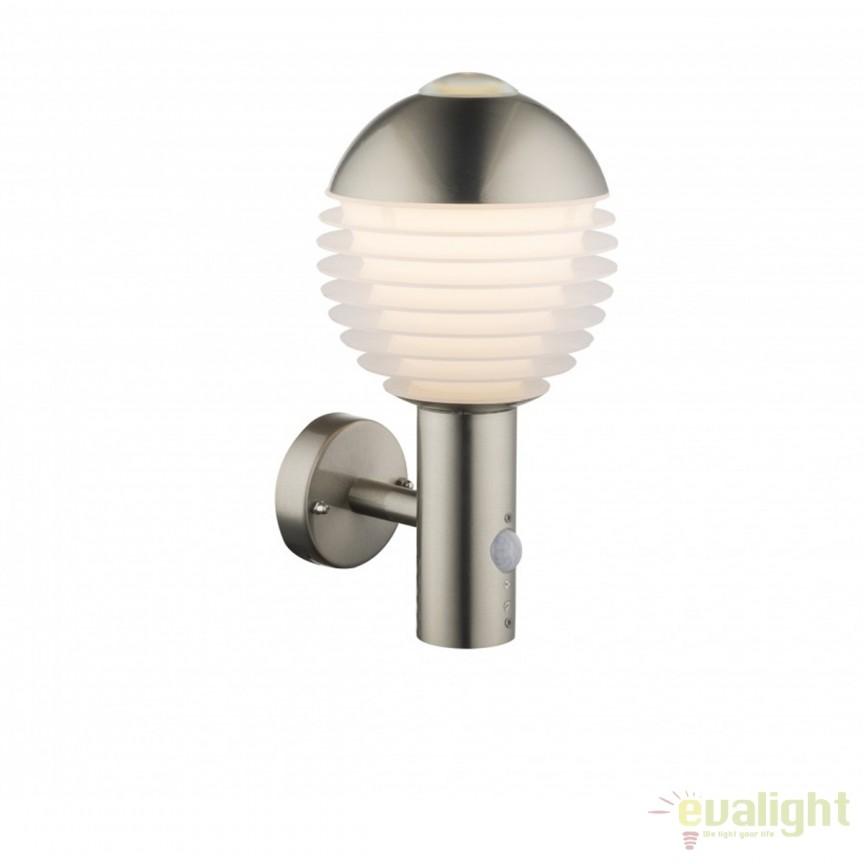 Aplica LED de exterior cu senzor de miscare IP44 Alerio 34286S GL, Iluminat cu senzor de miscare, Corpuri de iluminat, lustre, aplice, veioze, lampadare, plafoniere. Mobilier si decoratiuni, oglinzi, scaune, fotolii. Oferte speciale iluminat interior si exterior. Livram in toata tara.  a