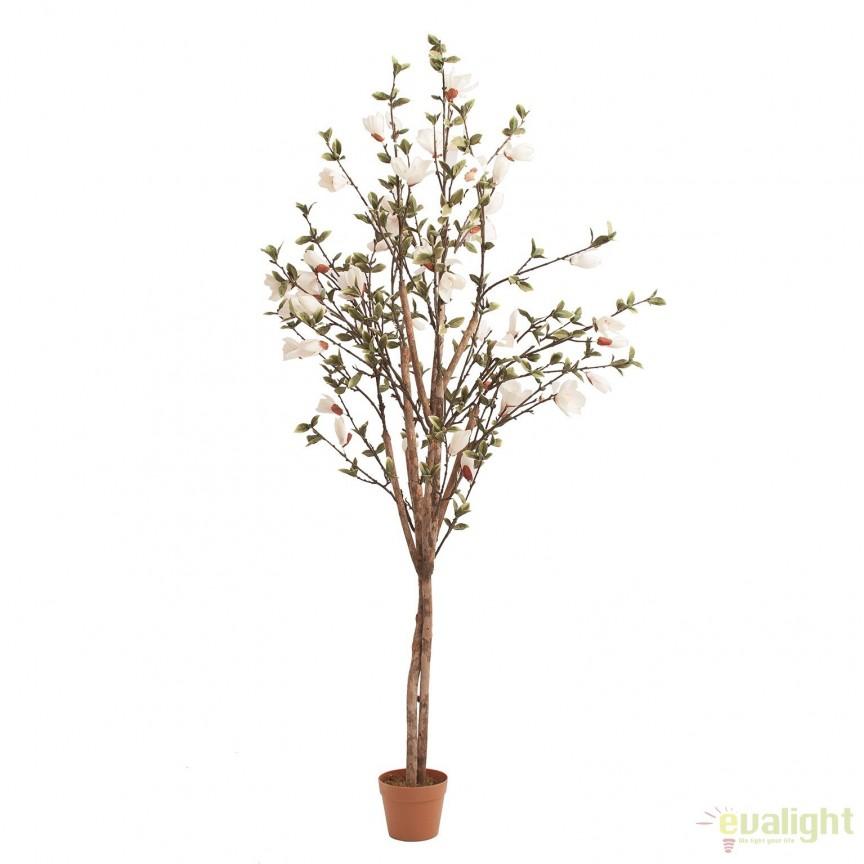 Planta artificiala decorativa, design shabby chic Migdal, 193cm 24319 VH, Aranjamente florale LUX, Corpuri de iluminat, lustre, aplice, veioze, lampadare, plafoniere. Mobilier si decoratiuni, oglinzi, scaune, fotolii. Oferte speciale iluminat interior si exterior. Livram in toata tara.  a
