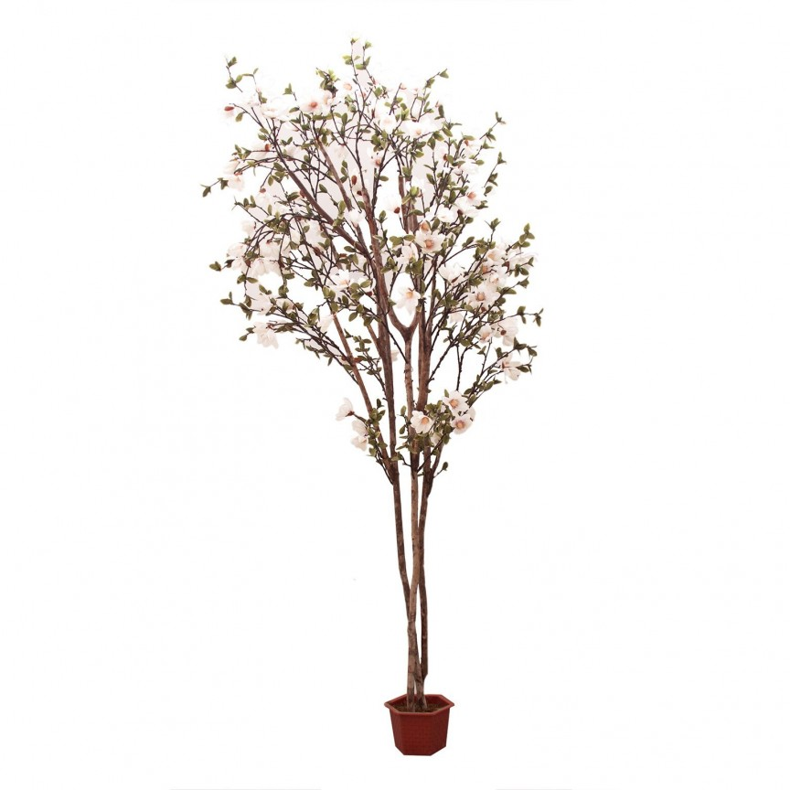 Planta artificiala decorativa design shabby chic Magnolia, 302cm 22687 VH, Aranjamente florale LUX, Corpuri de iluminat, lustre, aplice, veioze, lampadare, plafoniere. Mobilier si decoratiuni, oglinzi, scaune, fotolii. Oferte speciale iluminat interior si exterior. Livram in toata tara.  a