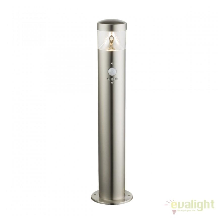 Stalp LED de exterior cu senzor de miscare FOSCA H50cm 34207S GL, Iluminat cu senzor de miscare, Corpuri de iluminat, lustre, aplice, veioze, lampadare, plafoniere. Mobilier si decoratiuni, oglinzi, scaune, fotolii. Oferte speciale iluminat interior si exterior. Livram in toata tara.  a