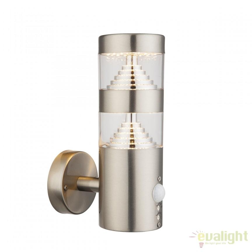 Aplica LED de exterior cu senzor de miscare CELIO I 34200S GL, Iluminat cu senzor de miscare, Corpuri de iluminat, lustre, aplice, veioze, lampadare, plafoniere. Mobilier si decoratiuni, oglinzi, scaune, fotolii. Oferte speciale iluminat interior si exterior. Livram in toata tara.  a