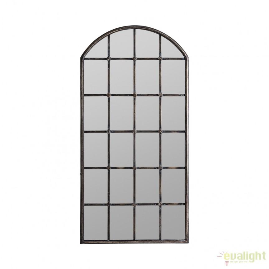 Oglinda tip fereastra design industrial Alano 24765 VH, Oglinzi decorative, Corpuri de iluminat, lustre, aplice, veioze, lampadare, plafoniere. Mobilier si decoratiuni, oglinzi, scaune, fotolii. Oferte speciale iluminat interior si exterior. Livram in toata tara.  a