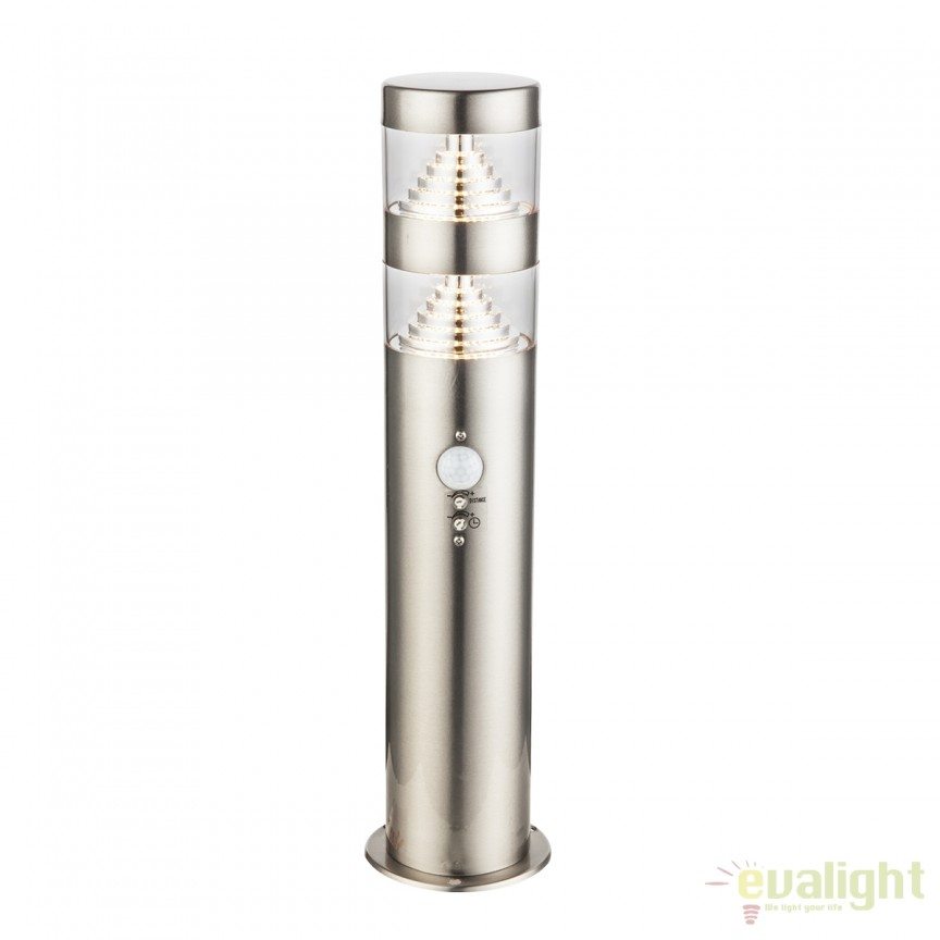 Stalp LED de exterior cu senzor de miscare CELIO H40cm 34201S GL, Iluminat cu senzor de miscare, Corpuri de iluminat, lustre, aplice, veioze, lampadare, plafoniere. Mobilier si decoratiuni, oglinzi, scaune, fotolii. Oferte speciale iluminat interior si exterior. Livram in toata tara.  a
