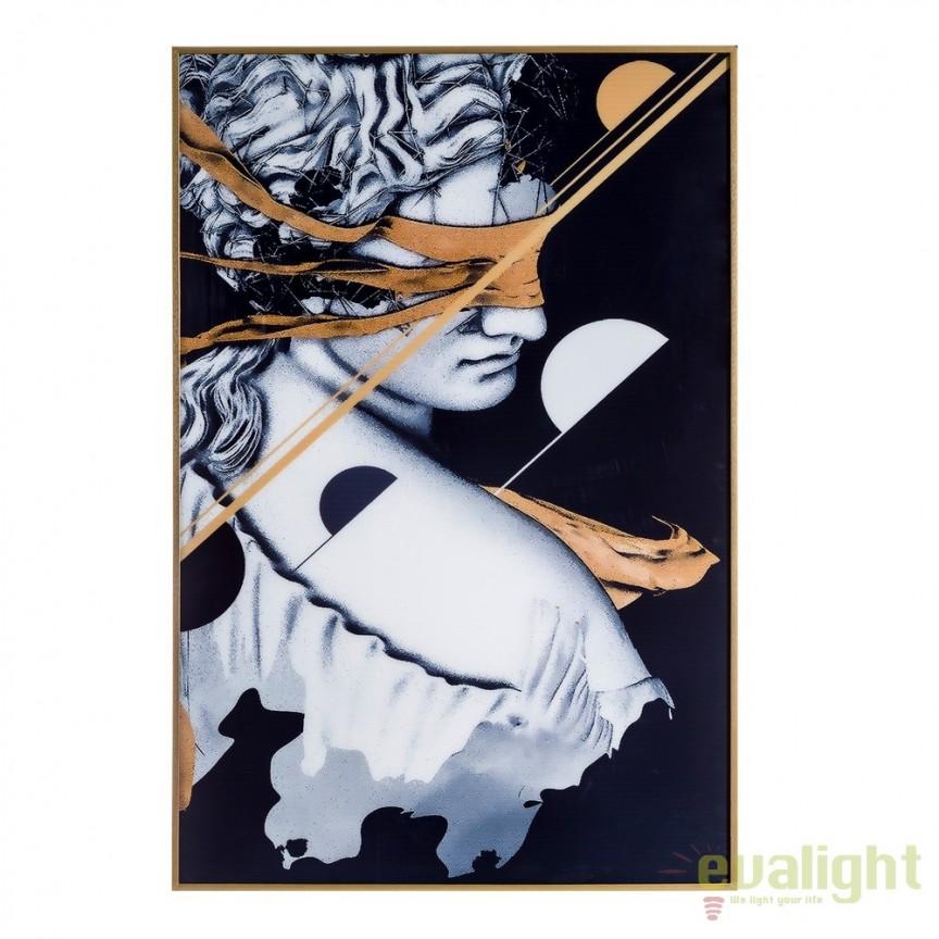 Tablou, imagime imprimata pe folie acrilica ABSTRACT gri/ negru, 81x121cm DZ-103675, Tablouri decorative, Corpuri de iluminat, lustre, aplice, veioze, lampadare, plafoniere. Mobilier si decoratiuni, oglinzi, scaune, fotolii. Oferte speciale iluminat interior si exterior. Livram in toata tara.  a