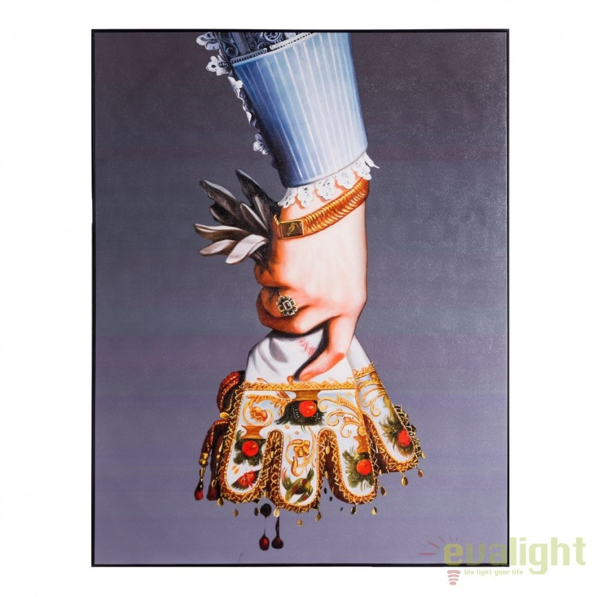 Tablou, imagime imprimata pe panza Mana cu manusi, 116x150cm DZ-103678, Tablouri decorative, Corpuri de iluminat, lustre, aplice, veioze, lampadare, plafoniere. Mobilier si decoratiuni, oglinzi, scaune, fotolii. Oferte speciale iluminat interior si exterior. Livram in toata tara.  a