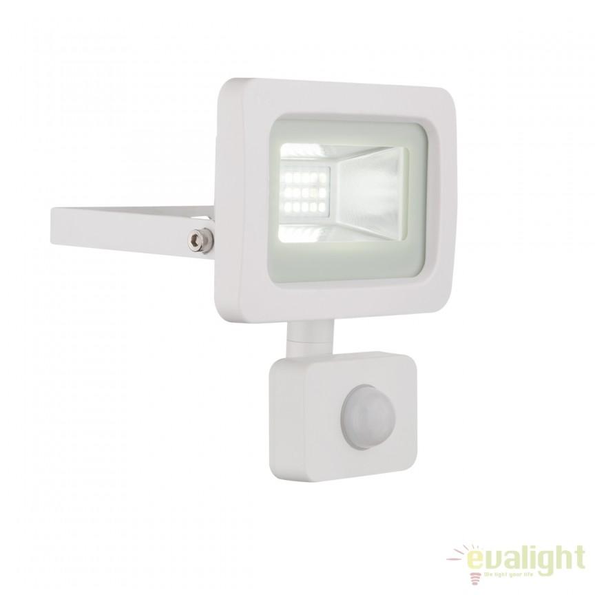 Proiector LED cu senzor de miscare IP44 CALLAQUI I alb 34002S GL, Proiectoare de iluminat exterior , Corpuri de iluminat, lustre, aplice, veioze, lampadare, plafoniere. Mobilier si decoratiuni, oglinzi, scaune, fotolii. Oferte speciale iluminat interior si exterior. Livram in toata tara.  a