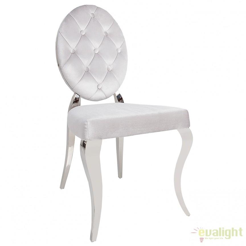 Set de 2 scaune elegante cu tapiterie din catifea Modern Barock A-38342 VC, Seturi scaune dining, scaune HoReCa, Corpuri de iluminat, lustre, aplice, veioze, lampadare, plafoniere. Mobilier si decoratiuni, oglinzi, scaune, fotolii. Oferte speciale iluminat interior si exterior. Livram in toata tara.  a