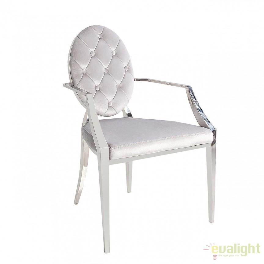 Set de 2 scaune cu brate, elegante, tapiterie din catifea Modern Barock A-38343 VC, Seturi scaune dining, scaune HoReCa, Corpuri de iluminat, lustre, aplice, veioze, lampadare, plafoniere. Mobilier si decoratiuni, oglinzi, scaune, fotolii. Oferte speciale iluminat interior si exterior. Livram in toata tara.  a