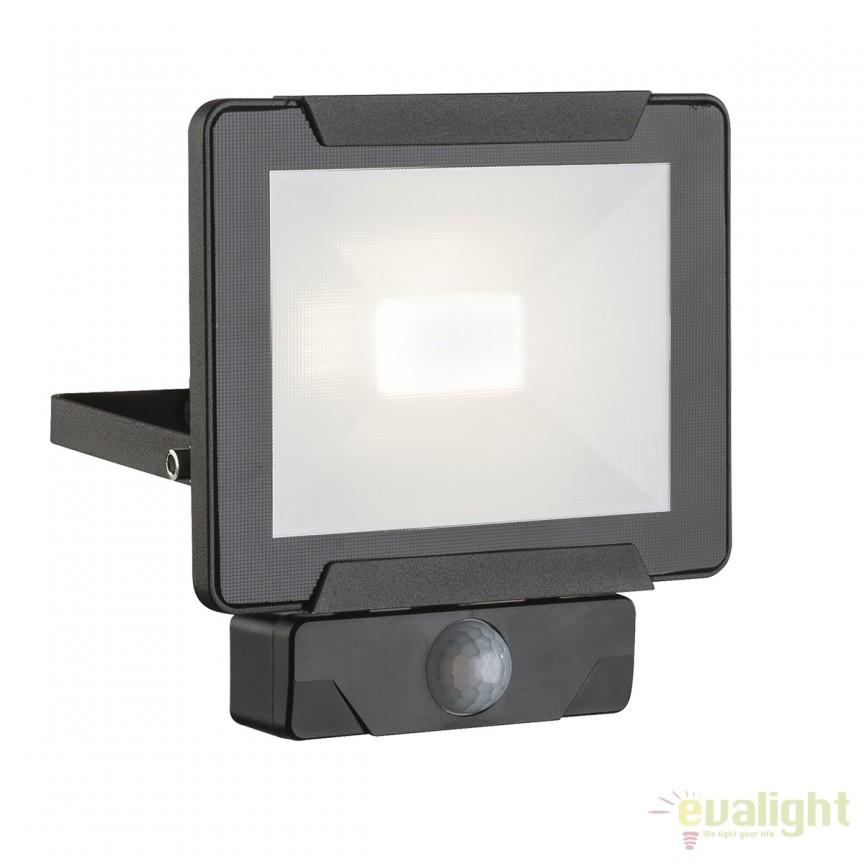 Proiector LED cu senzor de miscare IP44 URMIA II 34010S GL, Proiectoare de iluminat exterior , Corpuri de iluminat, lustre, aplice, veioze, lampadare, plafoniere. Mobilier si decoratiuni, oglinzi, scaune, fotolii. Oferte speciale iluminat interior si exterior. Livram in toata tara.  a