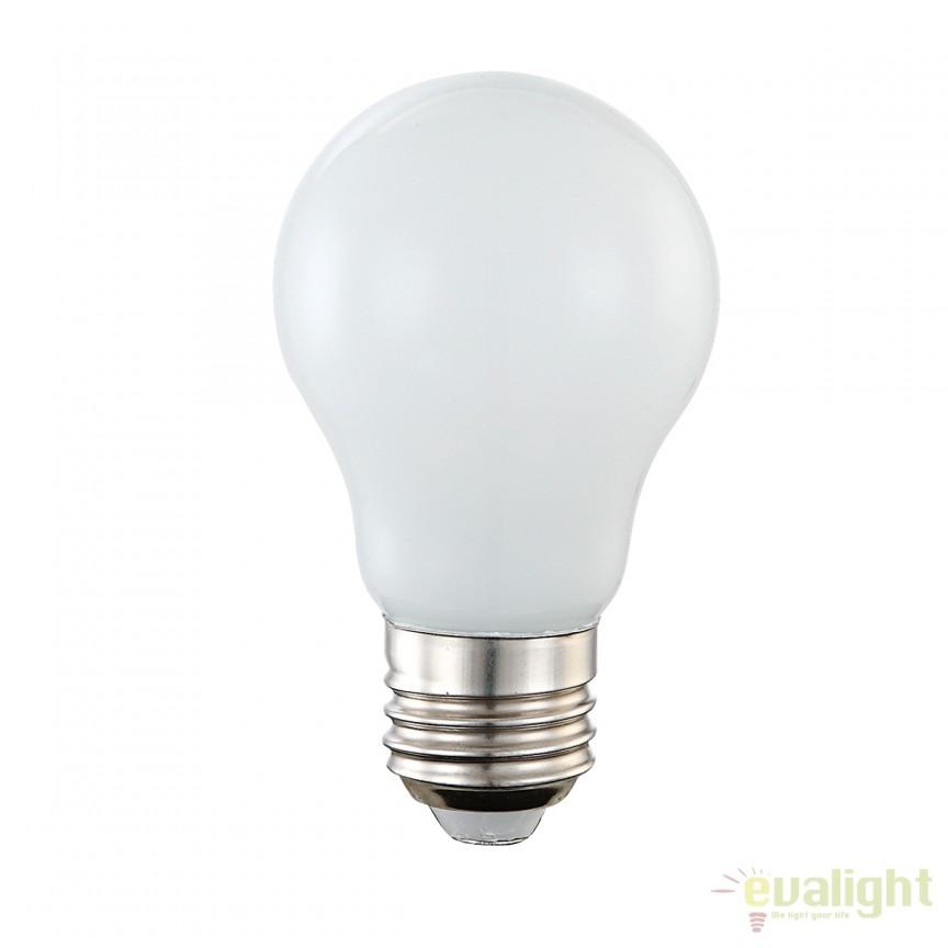 Bec LED E27 opal 4W 3000K 10750 GL, Becuri E27, Corpuri de iluminat, lustre, aplice, veioze, lampadare, plafoniere. Mobilier si decoratiuni, oglinzi, scaune, fotolii. Oferte speciale iluminat interior si exterior. Livram in toata tara.  a