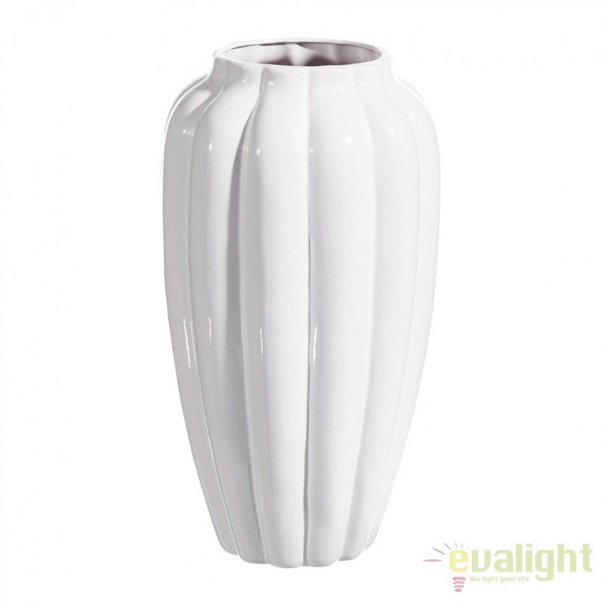 Vaza din ceramica alba, BLANCO 52cm DZ-104279, Vaze, Ghivece decorative, Corpuri de iluminat, lustre, aplice, veioze, lampadare, plafoniere. Mobilier si decoratiuni, oglinzi, scaune, fotolii. Oferte speciale iluminat interior si exterior. Livram in toata tara.  a