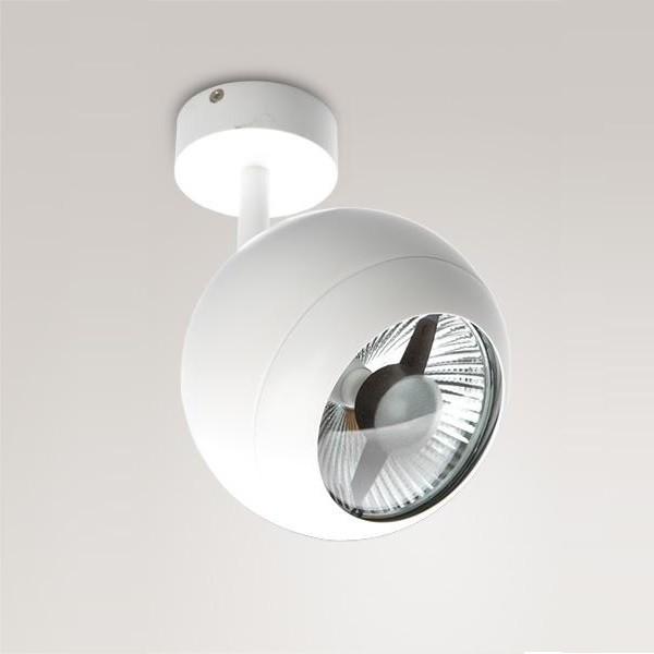Spot directionabil Silver alb W0052 MX, Spoturi - iluminat - cu 1 spot, Corpuri de iluminat, lustre, aplice a
