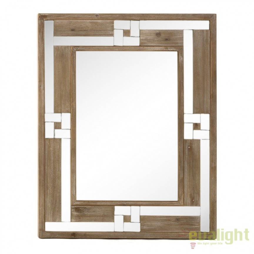 Oglinda eleganta, lemn de brad si oglinda placata, ARWEN 75x95cm SX-103780, Oglinzi decorative, Corpuri de iluminat, lustre, aplice, veioze, lampadare, plafoniere. Mobilier si decoratiuni, oglinzi, scaune, fotolii. Oferte speciale iluminat interior si exterior. Livram in toata tara.  a