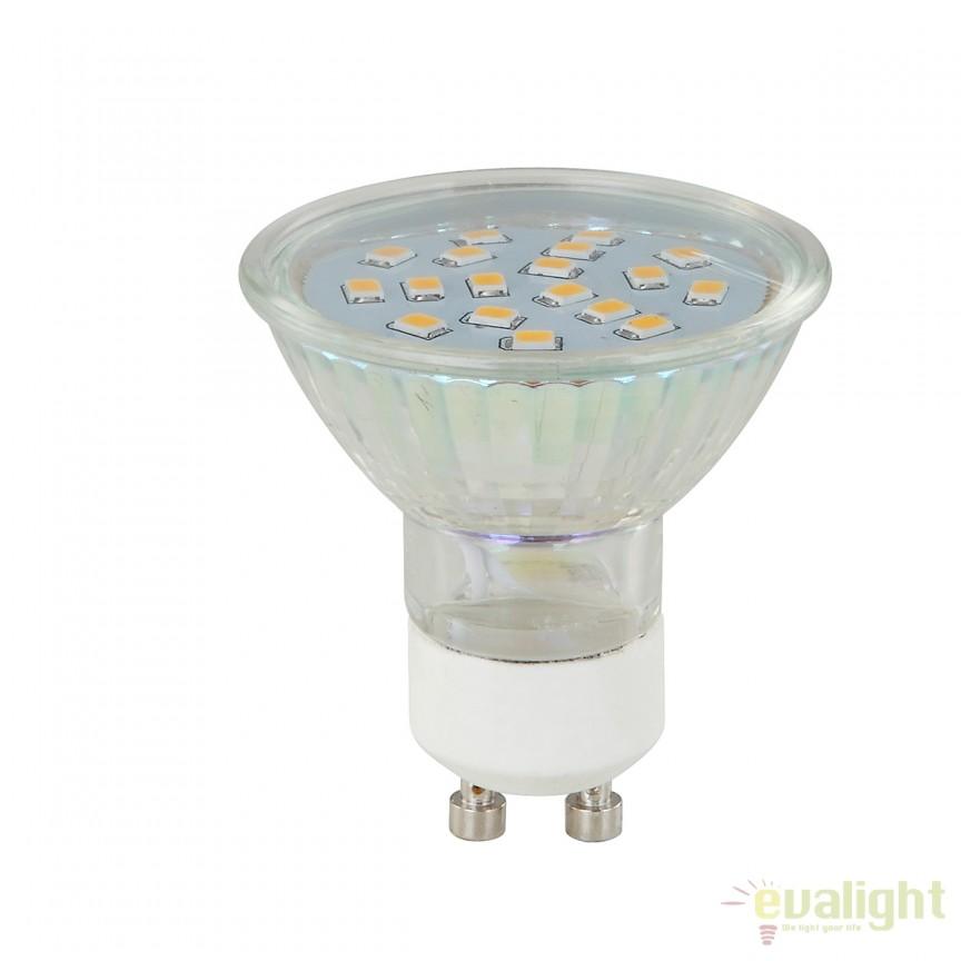Bec LED GU10 3W 3000K 10706K GL, Becuri GU10, GU4, GU3,5, Corpuri de iluminat, lustre, aplice, veioze, lampadare, plafoniere. Mobilier si decoratiuni, oglinzi, scaune, fotolii. Oferte speciale iluminat interior si exterior. Livram in toata tara.  a