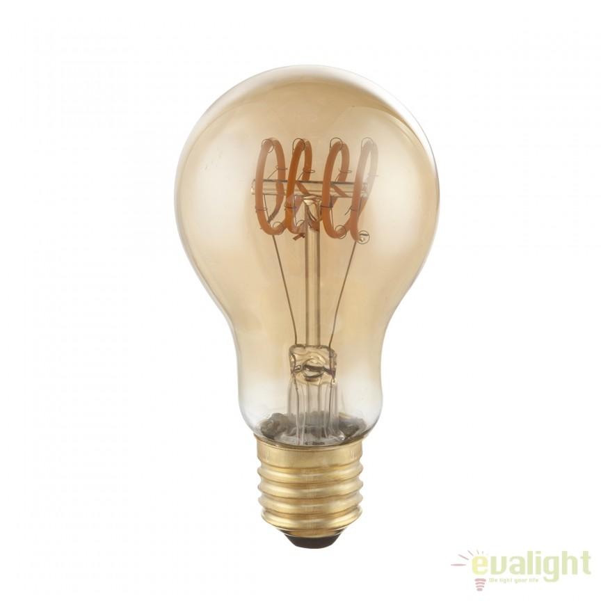 Bec decorativ Edison cu filament LED dimabil E27 4W 2000K DUBAN 11403F GL, Becuri E27, Corpuri de iluminat, lustre, aplice, veioze, lampadare, plafoniere. Mobilier si decoratiuni, oglinzi, scaune, fotolii. Oferte speciale iluminat interior si exterior. Livram in toata tara.  a