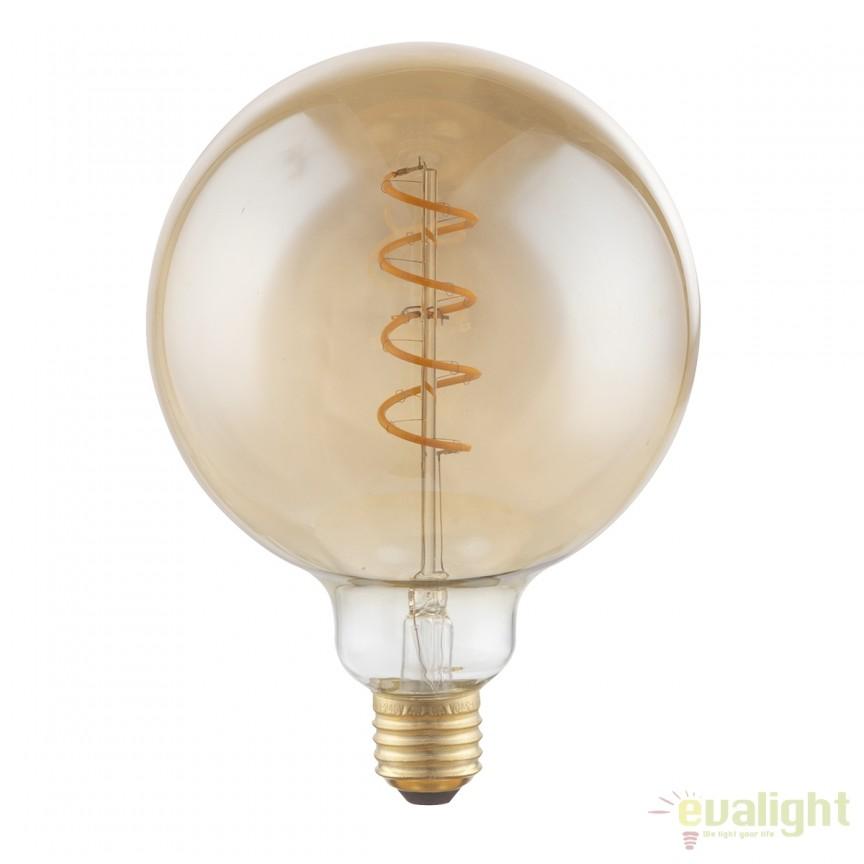 Bec decorativ Edison cu filament LED dimabil E27 4W 2000K Globe DUBAN 11404F GL, Becuri E27, Corpuri de iluminat, lustre, aplice, veioze, lampadare, plafoniere. Mobilier si decoratiuni, oglinzi, scaune, fotolii. Oferte speciale iluminat interior si exterior. Livram in toata tara.  a