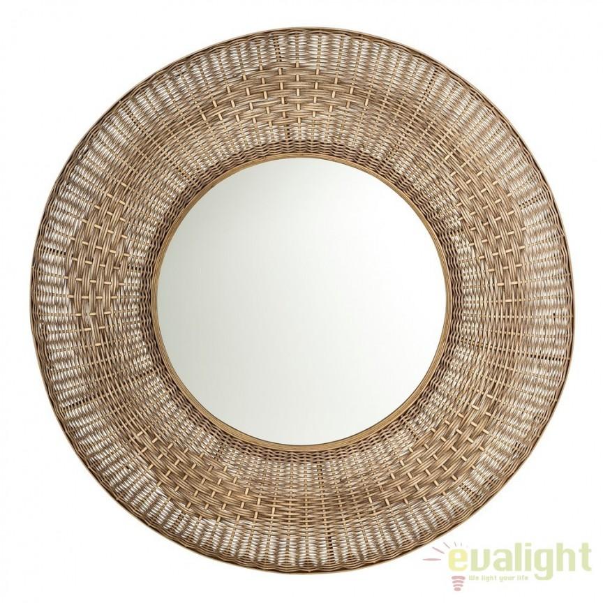 Oglinda decorativa design rustic Rattan 100cm SX-103446, Oglinzi decorative, Corpuri de iluminat, lustre, aplice, veioze, lampadare, plafoniere. Mobilier si decoratiuni, oglinzi, scaune, fotolii. Oferte speciale iluminat interior si exterior. Livram in toata tara.  a