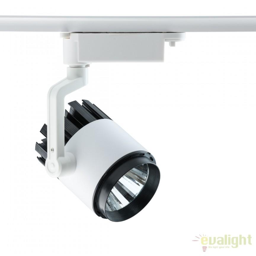 Spot LED directionabil pe sina Galax II alb 20W 550011001 MW, Spoturi, Proiectoare pe sina, Corpuri de iluminat, lustre, aplice, veioze, lampadare, plafoniere. Mobilier si decoratiuni, oglinzi, scaune, fotolii. Oferte speciale iluminat interior si exterior. Livram in toata tara.  a