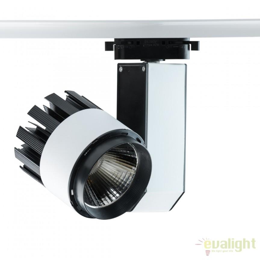 Spot LED directionabil pe sina Rony 30W 550010801 MW, Spoturi, Proiectoare pe sina, Corpuri de iluminat, lustre, aplice, veioze, lampadare, plafoniere. Mobilier si decoratiuni, oglinzi, scaune, fotolii. Oferte speciale iluminat interior si exterior. Livram in toata tara.  a