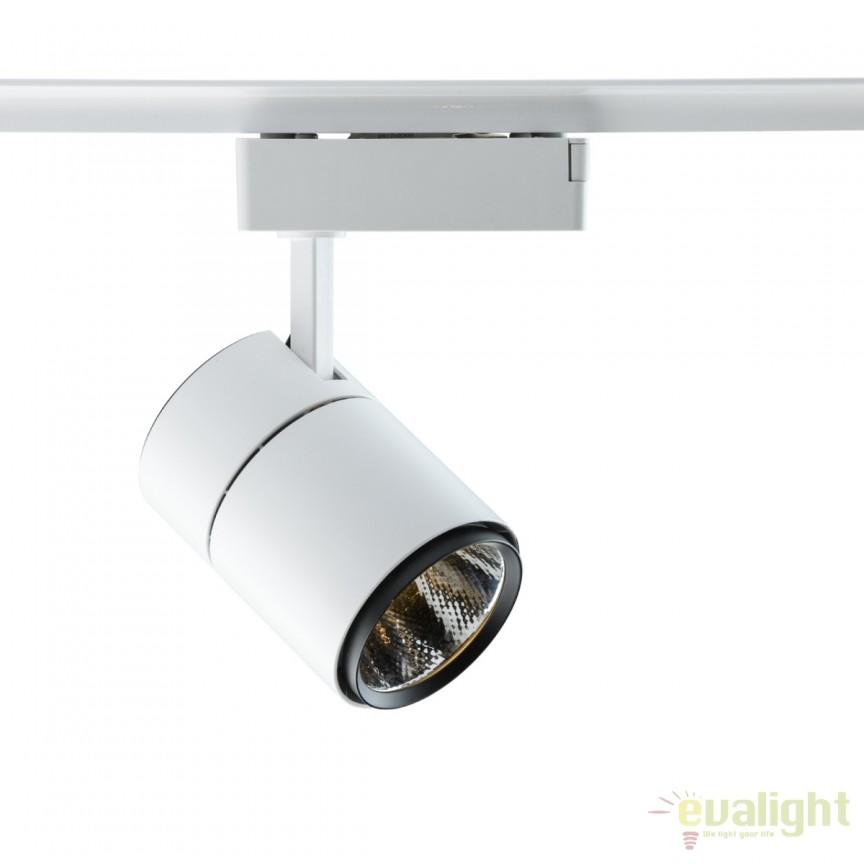 Spot LED directionabil pe sina Rondo I alb 20W 550010701 MW, Spoturi, Proiectoare pe sina, Corpuri de iluminat, lustre, aplice, veioze, lampadare, plafoniere. Mobilier si decoratiuni, oglinzi, scaune, fotolii. Oferte speciale iluminat interior si exterior. Livram in toata tara.  a