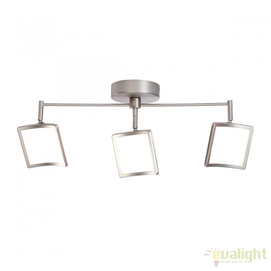 Plafoniera LED dimabila cu 3 spoturi directionabile SCREEN G72773/68 BL, Spoturi - iluminat - cu 3 spoturi, Corpuri de iluminat, lustre, aplice, veioze, lampadare, plafoniere. Mobilier si decoratiuni, oglinzi, scaune, fotolii. Oferte speciale iluminat interior si exterior. Livram in toata tara.  a