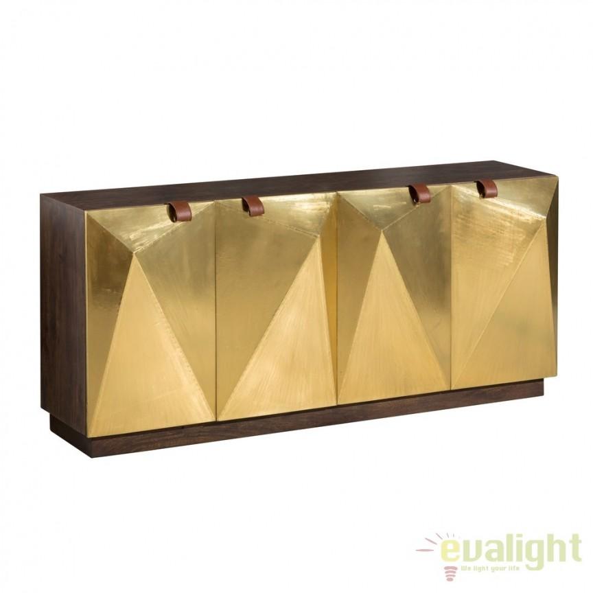 Comoda eleganta design industrial vintage Oro DZ-120641, Dulapuri - Comode, Corpuri de iluminat, lustre, aplice, veioze, lampadare, plafoniere. Mobilier si decoratiuni, oglinzi, scaune, fotolii. Oferte speciale iluminat interior si exterior. Livram in toata tara.  a