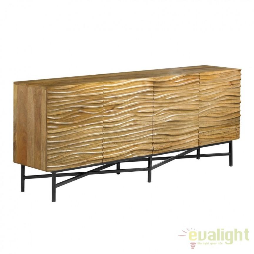 Comoda design industrial vintage din lemn de mango Utah DZ-120393, Dulapuri - Comode, Corpuri de iluminat, lustre, aplice, veioze, lampadare, plafoniere. Mobilier si decoratiuni, oglinzi, scaune, fotolii. Oferte speciale iluminat interior si exterior. Livram in toata tara.  a