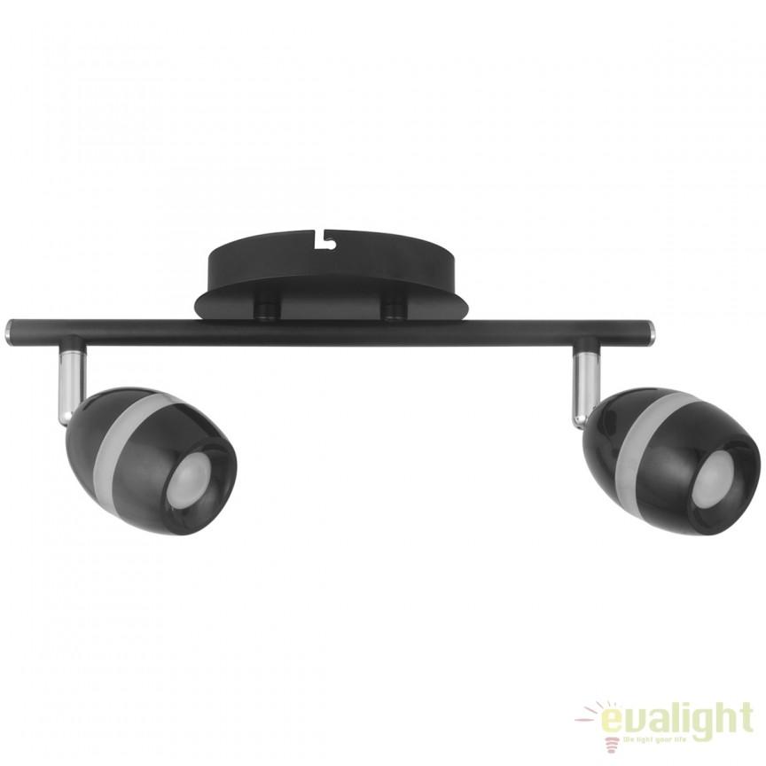 Plafoniera LED moderna cu 2 spoturi directionabile Etinger 704022902 MW, Spoturi - iluminat - cu 2 spoturi, Corpuri de iluminat, lustre, aplice, veioze, lampadare, plafoniere. Mobilier si decoratiuni, oglinzi, scaune, fotolii. Oferte speciale iluminat interior si exterior. Livram in toata tara.  a