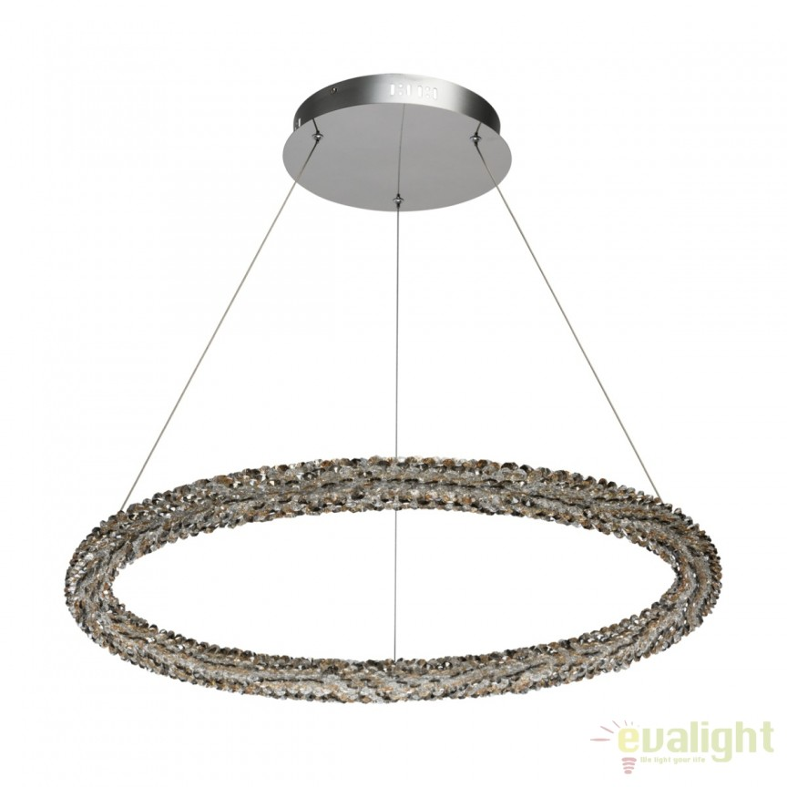 Lustra cristal cu LED design lux Goslar 498014101 MW, Candelabre, Lustre moderne, Corpuri de iluminat, lustre, aplice, veioze, lampadare, plafoniere. Mobilier si decoratiuni, oglinzi, scaune, fotolii. Oferte speciale iluminat interior si exterior. Livram in toata tara.  a