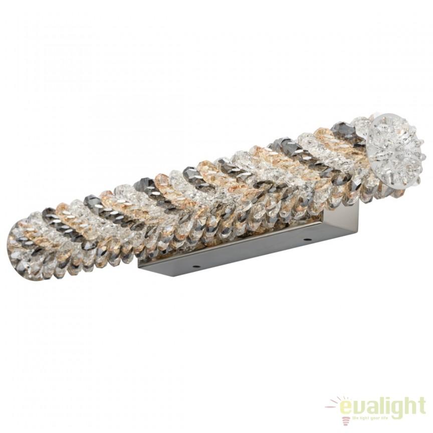 Aplica LED cristal design lux Goslar 498024501 MW, ILUMINAT INTERIOR LED , Corpuri de iluminat, lustre, aplice, veioze, lampadare, plafoniere. Mobilier si decoratiuni, oglinzi, scaune, fotolii. Oferte speciale iluminat interior si exterior. Livram in toata tara.  a