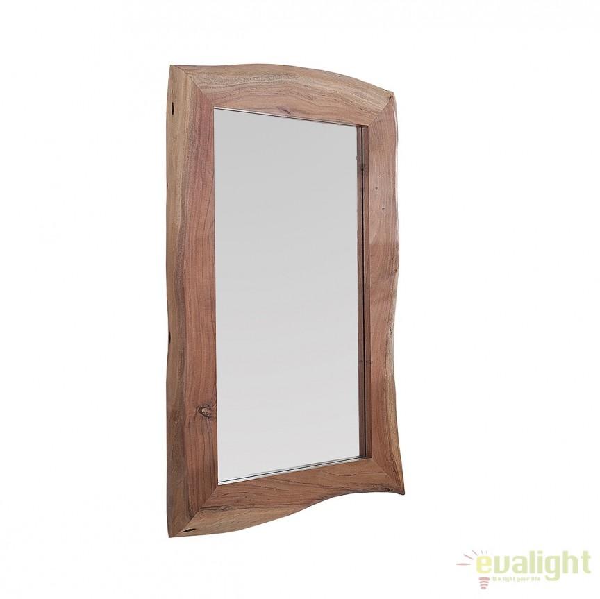 Oglinda cu rama din lemn de salcam, Hemingway 120cm A-38174 VC, Oglinzi decorative, Corpuri de iluminat, lustre, aplice, veioze, lampadare, plafoniere. Mobilier si decoratiuni, oglinzi, scaune, fotolii. Oferte speciale iluminat interior si exterior. Livram in toata tara.  a