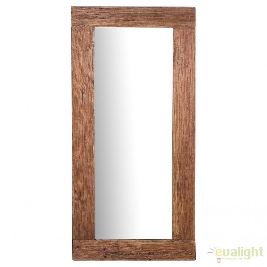 Oglinda cu rama din lemn reciclat, Hemingway 180cm A-38299 VC, Oglinzi decorative, Corpuri de iluminat, lustre, aplice, veioze, lampadare, plafoniere. Mobilier si decoratiuni, oglinzi, scaune, fotolii. Oferte speciale iluminat interior si exterior. Livram in toata tara.  a