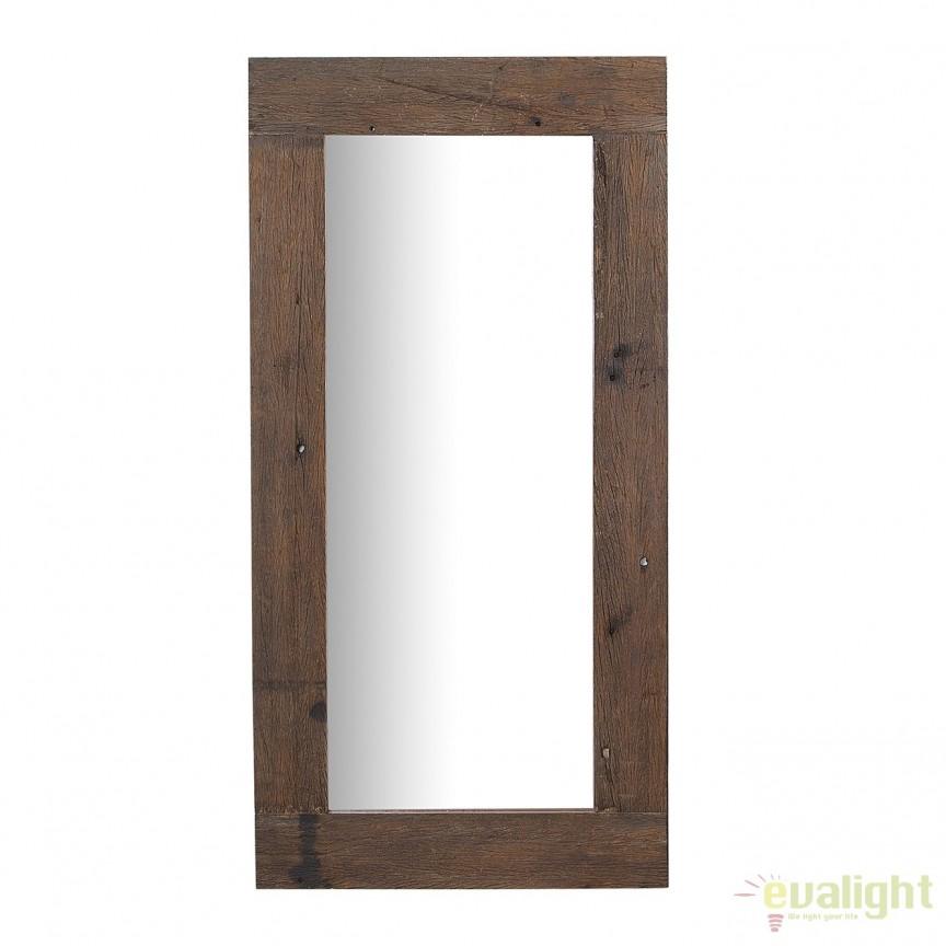 Oglinda cu rama din lemn reciclat, Hemingway 160cm A-38300 VC, Oglinzi decorative, Corpuri de iluminat, lustre, aplice, veioze, lampadare, plafoniere. Mobilier si decoratiuni, oglinzi, scaune, fotolii. Oferte speciale iluminat interior si exterior. Livram in toata tara.  a