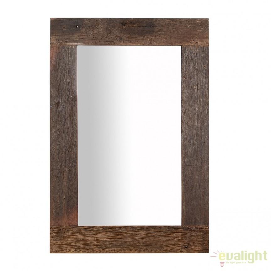 Oglinda cu rama din lemn reciclat, Hemingway 120cm A-38301 VC, Oglinzi decorative, Corpuri de iluminat, lustre, aplice, veioze, lampadare, plafoniere. Mobilier si decoratiuni, oglinzi, scaune, fotolii. Oferte speciale iluminat interior si exterior. Livram in toata tara.  a