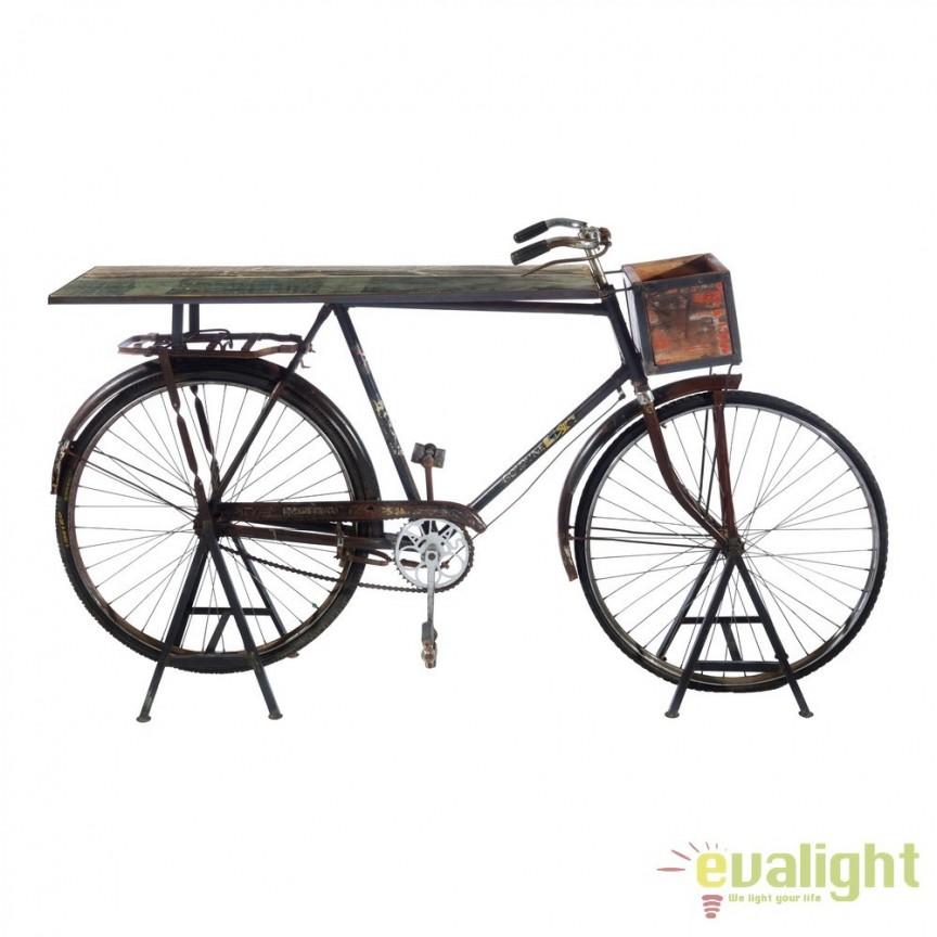 Consola bicicleta design deosebit Berwick maro DZ-120590, Console - Birouri, Corpuri de iluminat, lustre, aplice, veioze, lampadare, plafoniere. Mobilier si decoratiuni, oglinzi, scaune, fotolii. Oferte speciale iluminat interior si exterior. Livram in toata tara.  a
