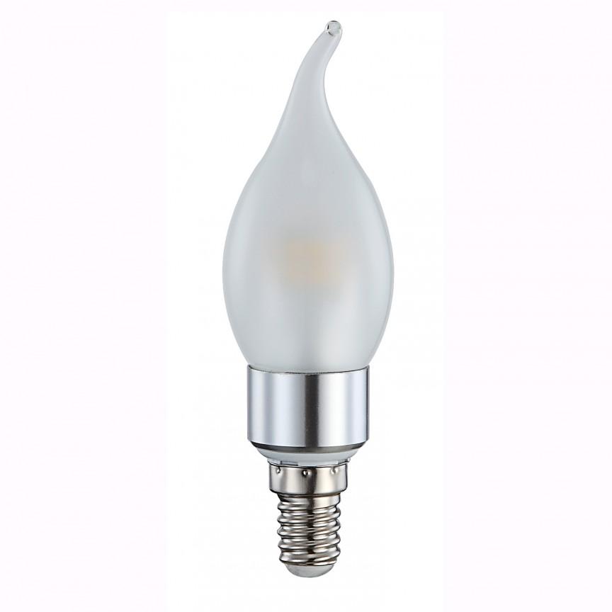 Bec CLASSIC Candle E14 LED 4Watt 3000K 10663 GL, PROMOTII, Corpuri de iluminat, lustre, aplice, veioze, lampadare, plafoniere. Mobilier si decoratiuni, oglinzi, scaune, fotolii. Oferte speciale iluminat interior si exterior. Livram in toata tara.  a