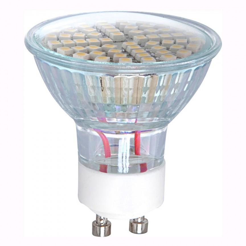 Bec LED GU10 3,5Watt, 3000K 1071 GL, Becuri GU10, GU4, GU3,5, Corpuri de iluminat, lustre, aplice, veioze, lampadare, plafoniere. Mobilier si decoratiuni, oglinzi, scaune, fotolii. Oferte speciale iluminat interior si exterior. Livram in toata tara.  a