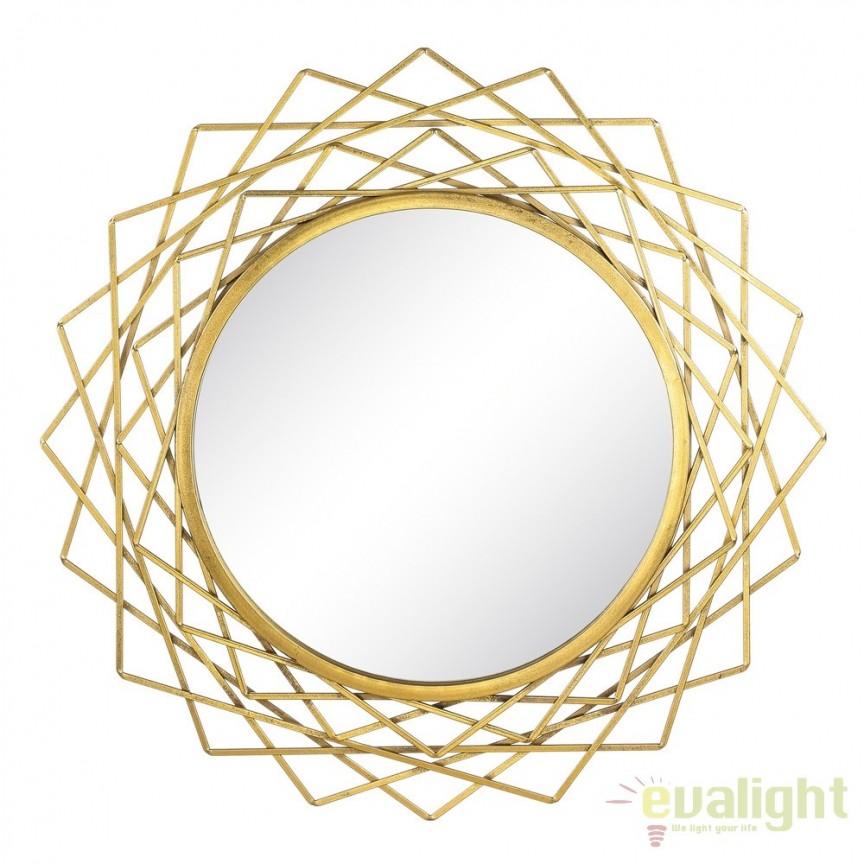 Oglinda decorativa din metal ORO, 91cm SX-103476, Oglinzi decorative, Corpuri de iluminat, lustre, aplice, veioze, lampadare, plafoniere. Mobilier si decoratiuni, oglinzi, scaune, fotolii. Oferte speciale iluminat interior si exterior. Livram in toata tara.  a
