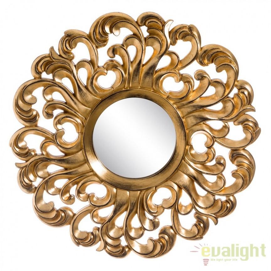 Oglinda decorativa din poliuretan finisaj auriu, ORO VIEJO diametru 92cm, SX-103693, Oglinzi decorative, Corpuri de iluminat, lustre, aplice, veioze, lampadare, plafoniere. Mobilier si decoratiuni, oglinzi, scaune, fotolii. Oferte speciale iluminat interior si exterior. Livram in toata tara.  a