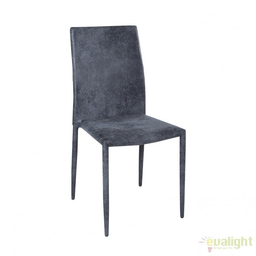 Set de 4 scaune elegante Milano, tesatura gri inchis antic A-37467 VC, Seturi scaune dining, scaune HoReCa, Corpuri de iluminat, lustre, aplice, veioze, lampadare, plafoniere. Mobilier si decoratiuni, oglinzi, scaune, fotolii. Oferte speciale iluminat interior si exterior. Livram in toata tara.  a