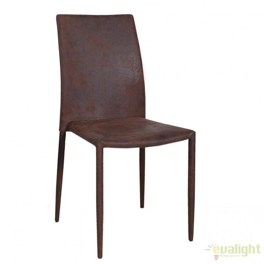 Set de 4 scaune elegante Milano, microfibra cafeniu antic A-35643 VC, Seturi scaune dining, scaune HoReCa, Corpuri de iluminat, lustre, aplice, veioze, lampadare, plafoniere. Mobilier si decoratiuni, oglinzi, scaune, fotolii. Oferte speciale iluminat interior si exterior. Livram in toata tara.  a