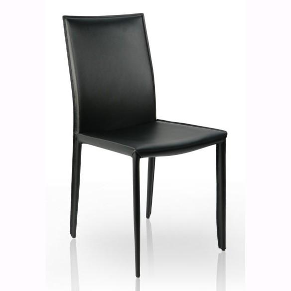 Set de 2 scaune elegante Milano, piele reciclata neagra A-4139 VC, Seturi scaune dining, scaune HoReCa, Corpuri de iluminat, lustre, aplice, veioze, lampadare, plafoniere. Mobilier si decoratiuni, oglinzi, scaune, fotolii. Oferte speciale iluminat interior si exterior. Livram in toata tara.  a