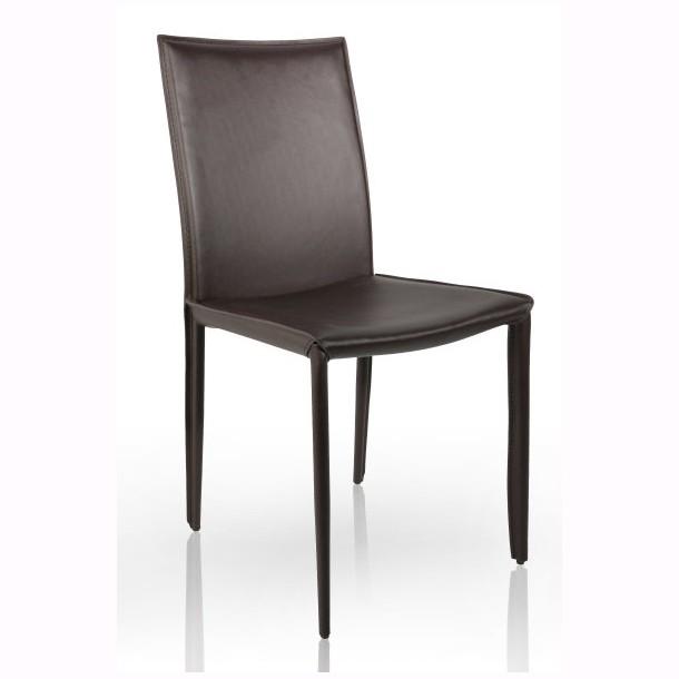Set de 2 scaune elegante Milano, piele reciclata maro A-11564 VC, Seturi scaune dining, scaune HoReCa, Corpuri de iluminat, lustre, aplice, veioze, lampadare, plafoniere. Mobilier si decoratiuni, oglinzi, scaune, fotolii. Oferte speciale iluminat interior si exterior. Livram in toata tara.  a