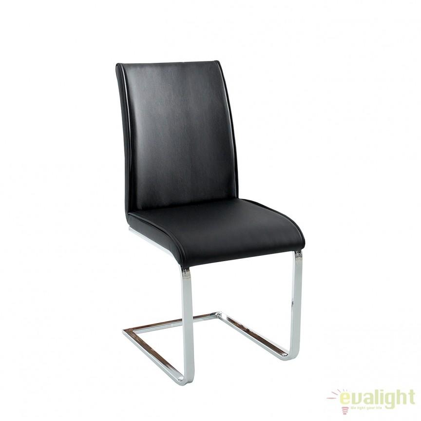 Set de 4 scaune elegante si moderne cu design ergonomic, Elegance negru A-37863 VC, Seturi scaune dining, scaune HoReCa, Corpuri de iluminat, lustre, aplice, veioze, lampadare, plafoniere. Mobilier si decoratiuni, oglinzi, scaune, fotolii. Oferte speciale iluminat interior si exterior. Livram in toata tara.  a