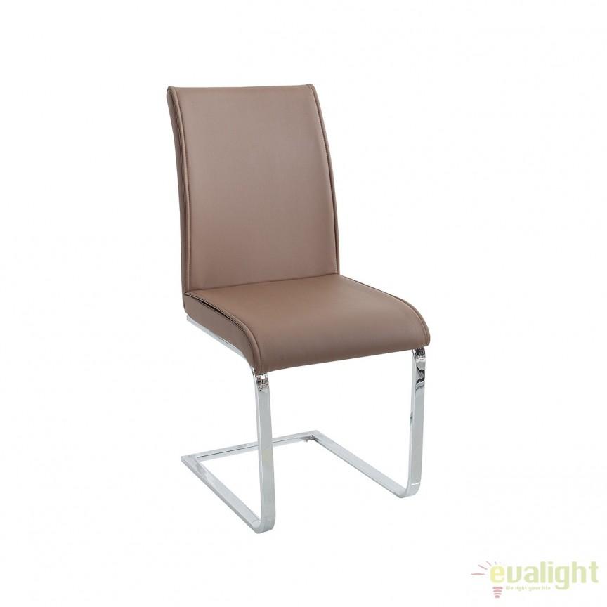 Set de 4 scaune elegante si moderne cu design ergonomic, Elegance maro A-37865 VC, Seturi scaune dining, scaune HoReCa, Corpuri de iluminat, lustre, aplice, veioze, lampadare, plafoniere. Mobilier si decoratiuni, oglinzi, scaune, fotolii. Oferte speciale iluminat interior si exterior. Livram in toata tara.  a